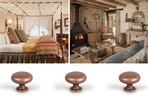 Pomos estilo cottage. Cottage style knobs. Decoración de interiores. Interiors decoration.