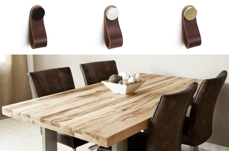 Tiradores de piel decoración. Leather handles decoration.