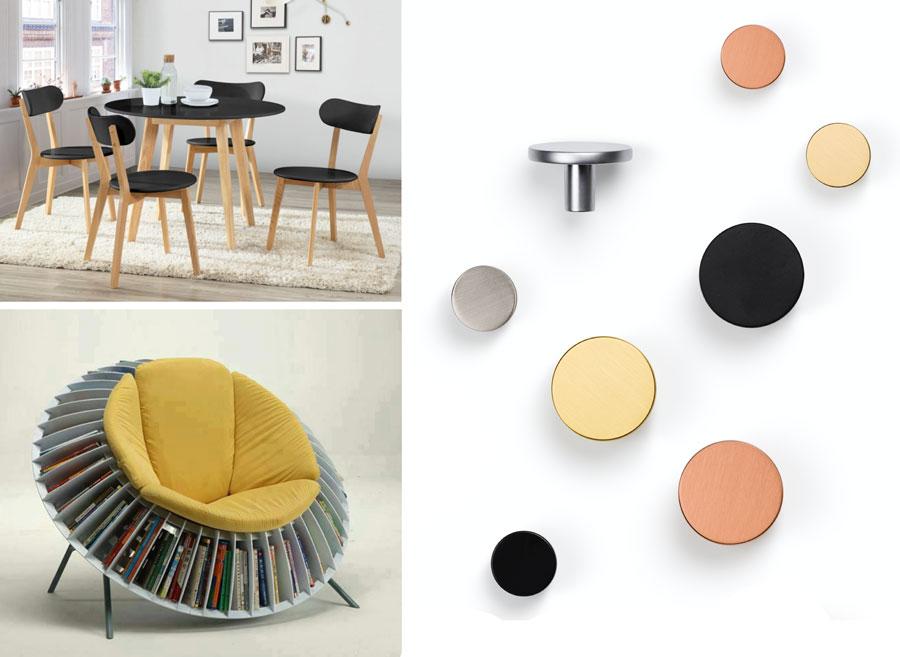 Circular handles for kitchens and bathrooms decoration. Tiradores redondos para decoración de cocinas y baños