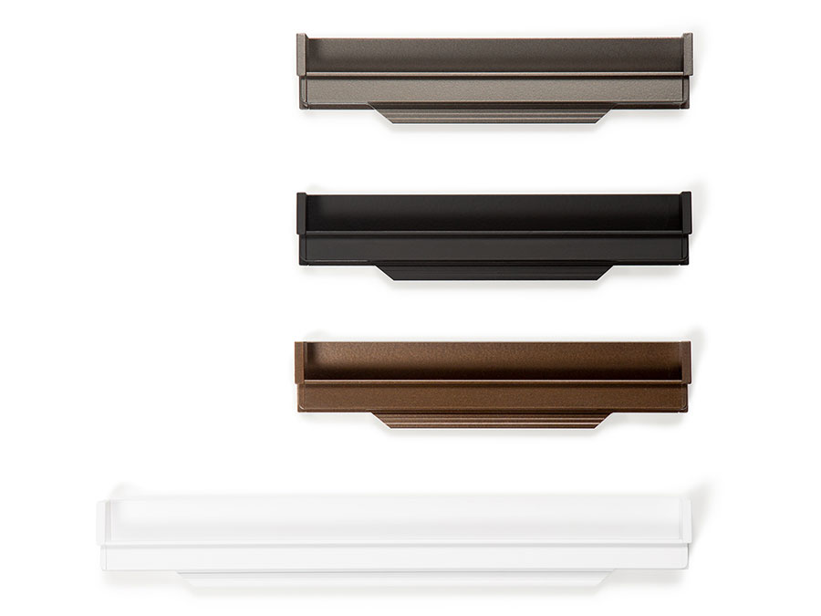 Hexxa handle for kitchens, bedrooms and bathrooms decoration. Tirador Hexxa de cocinas, habitaciones y baños by Viefe