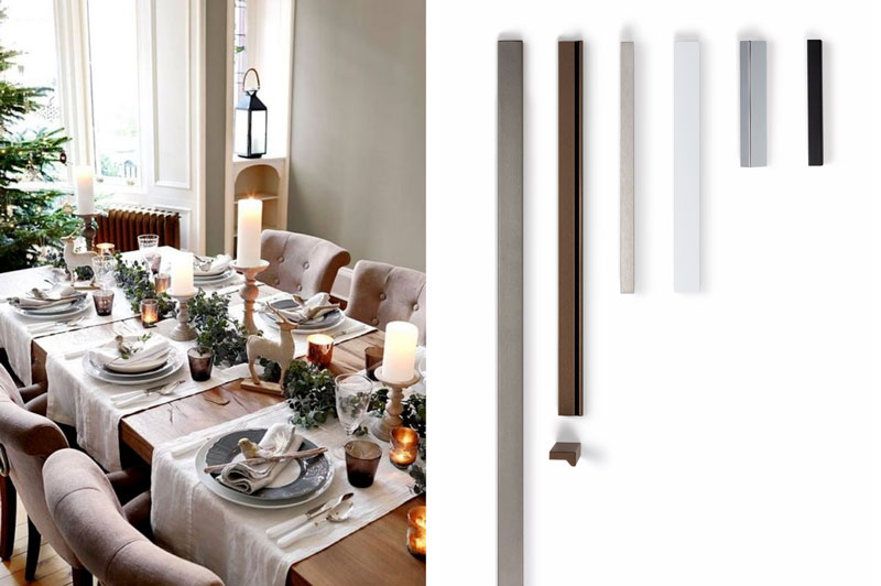 Dining room Christmas decoration decoracion Navidad comedor by Viefe